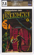 Adventures Into The Unknown #1 The Promise Collection Pedigree (ACG, 1948) CGC VF- 7.5 Off-white to white pages