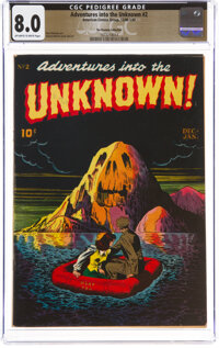 Adventures Into The Unknown #2 The Promise Collection Pedigree (ACG, 1948) CGC VF 8.0 Off-white to white pages