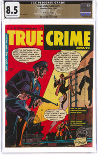True Crime Comics #5 The Promise Collection Pedigree (Magazine Village, 1949) CGC VF+ 8.5 Off-white to white pages