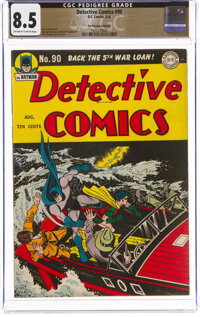 Detective Comics #90 The Promise Collection Pedigree (DC, 1944) CGC VF+ 8.5 Off-white to white pages