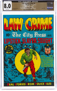Law Against Crime #3 The Promise Collection Pedigree (Essenkay Publishing, 1949) CGC VF 8.0 White pages