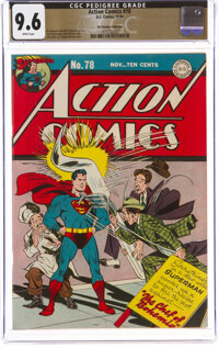 Action Comics #78 The Promise Collection Pedigree (DC, 1944) CGC NM+ 9.6 White pages