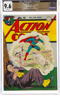 Action Comics #79 The Promise Collection Pedigree (DC, 1944) CGC NM+ 9.6 White pages