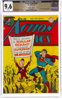 Action Comics #80 The Promise Collection Pedigree (DC, 1945) CGC NM+ 9.6 White pages