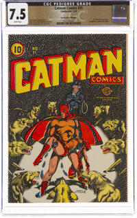Cat-Man Comics #31 The Promise Collection Pedigree (Continental, 1946) CGC VF- 7.5 White pages