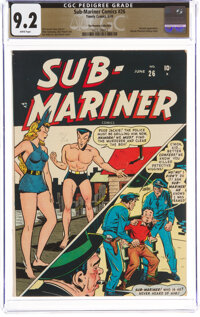 Sub-Mariner Comics #26 The Promise Collection Pedigree (Timely, 1948) CGC NM- 9.2 White pages