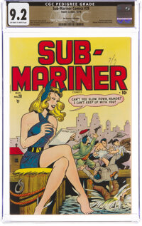 Sub-Mariner Comics #28 The Promise Collection Pedigree (Timely, 1948) CGC NM- 9.2 Off-white to white pages
