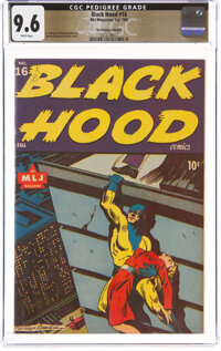 Black Hood #16 The Promise Collection Pedigree (MLJ, 1945) CGC NM+ 9.6 White pages