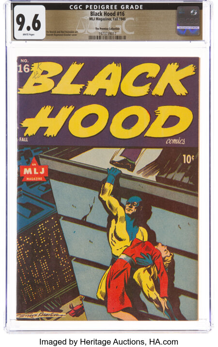 Black Hood #16 The Promise Collection Pedigree (MLJ, 1945) CGC NM+ 9.6 White pages....