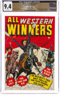 Golden Age (1938-1955):Western, All Western Winners #2 The Promise Collection Pedigree (Marvel, 1948) CGC NM 9.4 White pages....