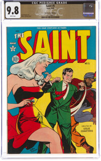 The Saint #5 The Promise Collection Pedigree (Avon, 1949) CGC NM/MT 9.8 White pages