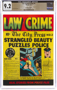 Law Against Crime #2 The Promise Collection Pedigree (Essenkay Publishing, 1948) CGC NM- 9.2 Off-white to white pages...