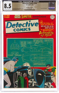 Detective Comics #156 The Promise Collection Pedigree (DC, 1950) CGC VF+ 8.5 Off-white to white pages