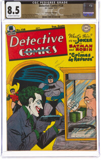 Detective Comics #128 The Promise Collection Pedigree (DC, 1947) CGC VF+ 8.5 Off-white to white pages