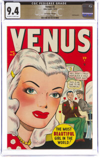 Venus #2 The Promise Collection Pedigree (Timely, 1948) CGC NM 9.4 Off-white to white pages