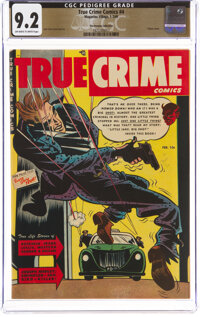 True Crime Comics #4 The Promise Collection Pedigree (Magazine Village, 1949) CGC NM- 9.2 Off-white to white pages