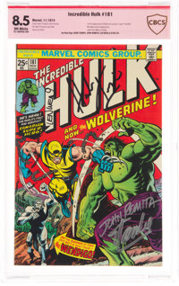 The Incredible Hulk #181 Verified Signature - Stan Lee (Marvel, 1974) CBCS VF+ 8.5 Off-white pages