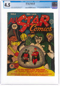 All Star Comics #8 (DC, 1942) CGC VG+ 4.5 Cream to off-white pages