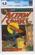 Golden Age (1938-1955):Superhero, Action Comics #23 (DC, 1940) CGC VG 4.0 Off-white to white pages....