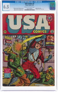 USA Comics #4 (Timely, 1942) CGC FN+ 6.5 Cream to off-white pages
