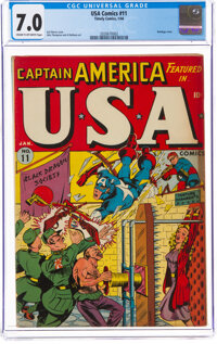 USA Comics #11 (Timely, 1944) CGC FN/VF 7.0 Cream to off-white pages