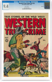 Western True Crime 16 (#2) Vancouver Pedigree (Fox Features Syndicate, 1948) CGC NM 9.4 White pages