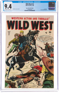 Wild West #2 Mile High Pedigree (Marvel, 1948) CGC NM 9.4 Off-white to white pages
