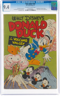 Four Color #147 Donald Duck (Dell, 1947) CGC NM 9.4 Off-white to white pages