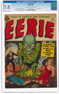 Golden Age (1938-1955):Horror, Eerie #8 (Avon, 1952) CGC FN/VF 7.0 Off-white to white pages....