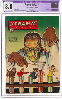 Dynamic Comics #11 (Chesler, 1944) CGC Apparent GD/VG 3.0 Slight (C-1) Off-white to white pages