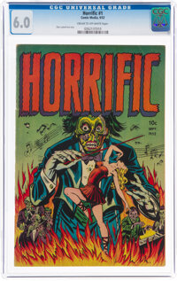 Horrific #1 (Comic Media, 1952) CGC FN 6.0 Cream to off-white pages