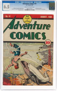 Adventure Comics #41 (DC, 1939) CGC FN+ 6.5 Cream to off-white pages