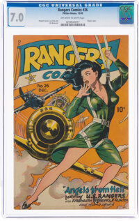 Rangers Comics #26 (Fiction House, 1945) CGC FN/VF 7.0 Off-white to white pages
