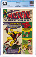 Silver Age (1956-1969):Superhero, Daredevil #1 (Marvel, 1964) CGC NM- 9.2 Off-white to white pages....