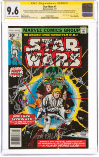 Star Wars #1 Signature Series: Artists and Cast Members (Marvel, 1977) CGC NM+ 9.6 Off-white to white pages
