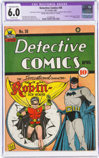 Detective Comics #38 (DC, 1940) CGC Apparent FN 6.0 Extensive (A-5) Off-white pages