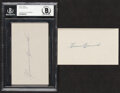Autographs:Index Cards, Heinie Manush Signed Index Cards, Lot of 2. Though...