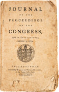 Books:Americana & American History, [Continental Congress]. Journal of the Proceedings of the Congress, Held at Philadelphia, September 5, 1774. Phi...