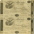 Large Size:War of 1812, United States - Act of December 26, 1814 Uncut Sheet of $20-$20 5-2/5% Treasury Note. Hessler X80A, Fr. TN-9a. Double-Signatur...