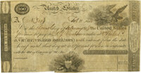 United States - Act of December 26, 1814 $100 5-2/5% Treasury Note. Hessler X80C, Fr. TN-8. Unsigned Remainder. PMG Very...