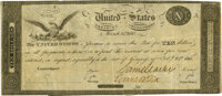 United States - Act of February 24, 1815 $10 Treasury Note Hessler X83Cvar, Fr. TN-13a. Double-Signature Remainder. PMG...