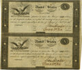 Large Size:War of 1812, United States - Act of February 24, 1815 Uncut Partial Sheet of $10-$10 Treasury Notes. Hessler X83C, Fr. TN-14a. Double-Signa...