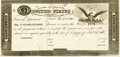 Large Size:War of 1812, United States - Act of February 24, 1815 $5 Treasury Note. Hessler X83B, Fr. TN-15p. Proof. PMG Choice Uncirculated 63 EPQ....