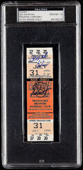 Movie/TV Memorabilia:Autographs and Signed Items, 1990 Nolan Ryan Signed 300th Win Game Ticket - PSA/DNA Autograph Gem Mint 10....