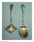 Silver Flatware, American:Mauser Manufacturing, TWO AMERICAN SILVER SERVING UTENSILS