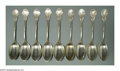 Silver Flatware, American:Shiebler, A GROUP OF AMERICAN SILVER CORINTHIAN PATTERN ITEMS