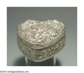 Silver Smalls:Other , AN AMERICAN SILVER REPOUSSE JEWEL BOX