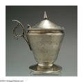Silver Smalls:Other , AN AMERICAN COIN SILVER MUSTARD POT