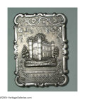 Silver Smalls:Cigarette Cases, AN ENGLISH SILVER ARCHITECTURAL CIGARETTE CASE