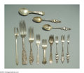 Silver Flatware, American:Other , AN ASSORTED GROUP OF SILVER UTENSILS